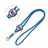Lanyard - Rond met full colour doming